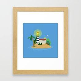 The lighthouse Framed Art Print