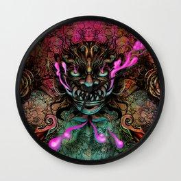 Japanese Dragon Mask Wall Clock