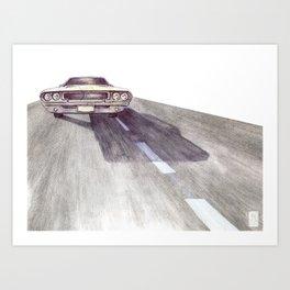 Lost Highway pt.4 Art Print
