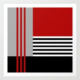 Colorful geometry 5 Art Print