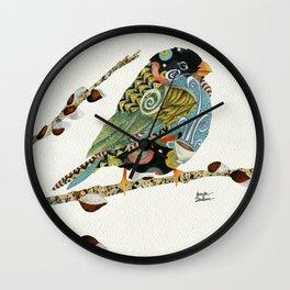 Cafe Swirly Bird 3 Wall Clock