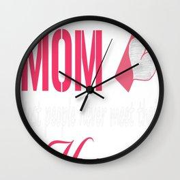 firefighter mom tee Wall Clock