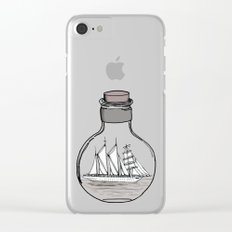 the ship in the bulb Clear iPhone Case