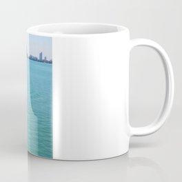 motor boat at the bay Coffee Mug