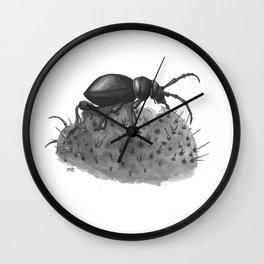 Inktobober 2016: Cactus Longhorn Beetle Wall Clock