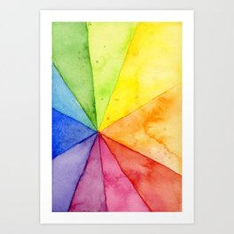 Abstract Colorful Geometric Design, Rainbow Beach Ball Pattern Art Print