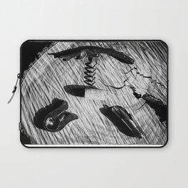 Black and white corkscrew Laptop Sleeve