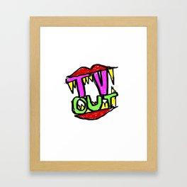 Tv Out Framed Art Print
