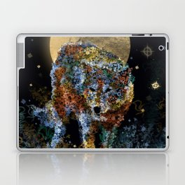 floral animals wolf and stars Laptop & iPad Skin