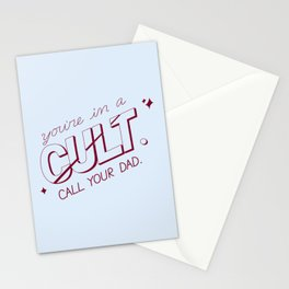 you're in a cult. call your dad. (MFM) Stationery Cards