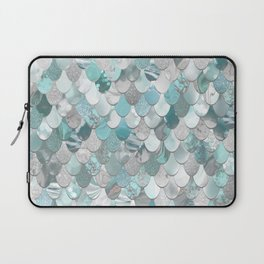 Mermaid Aqua and Grey Laptop Sleeve