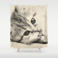 thundercats Shower Curtains featuring Kitten by Augustinet