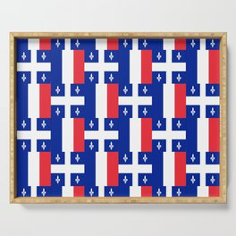 Mix of flag: France and Quebec Serving Tray