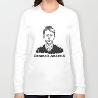 android Long Sleeve T-shirts featuring Paranoid Android by skidsam