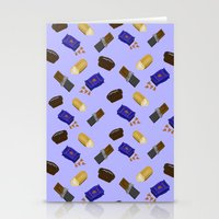junk food Stationery Cards featuring Junk Food by Danielle Davis