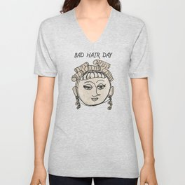 Bad Hair Day Unisex V-Neck
