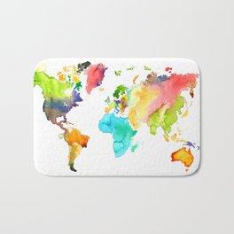 Watercolor World Bath Mat