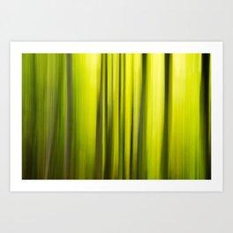 Fast Trees Art Print