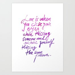 Love quotes Art Print