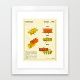 BUILDING BRICKS (1961) Framed Art Print