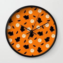 Volley Crows! Wall Clock