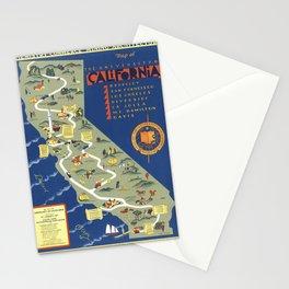 CALIFORNIA University map MAP Berkeley Stationery Cards