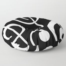 clef music notes white black Floor Pillow