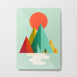 Little Geometric Tipi Metal Print