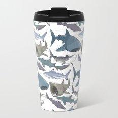 Shark Pattern Travel Mug