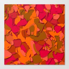 red camouflage Canvas Print