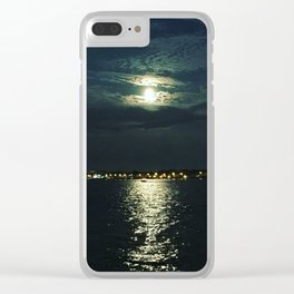 Super Full Moon Clear iPhone Case