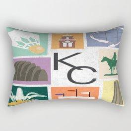 Kansas City Landmark Print Rectangular Pillow