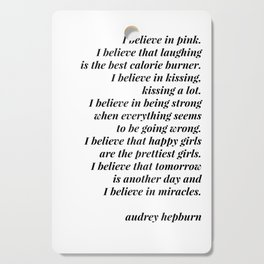 Audrey Hepburn quote Cutting Board