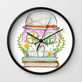 Sanity. A house for all you feelings Wall Clock
