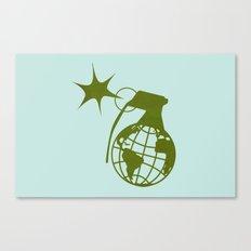 Earth Grenade Canvas Print