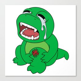 Little Dinosaur, Big Feelings (Ouch) Canvas Print