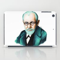 freud iPad Cases featuring SIGMUND FREUD by Coco Dávez