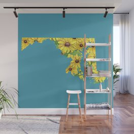 Maryland in Flowers Wall Mural