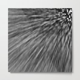 Slate Gray Pixel Wind Metal Print