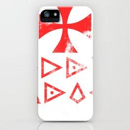 Templar Knight Templar Knight Cross Holy Shield Deus Vult iPhone Case