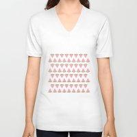 watermelon V-neck T-shirts featuring watermelon by husavendaczek