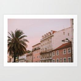 Sunset Hues in Lisbon Art Print