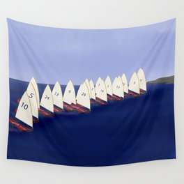 In May, May's Regatta - shoes stories Wall Tapestry