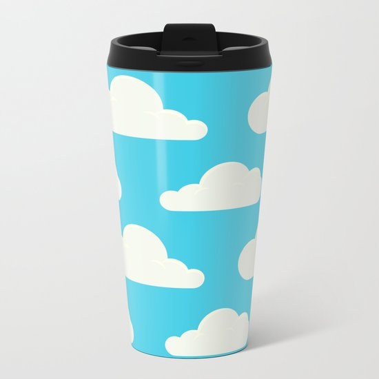 Fluffy clouds Metal Travel Mug
