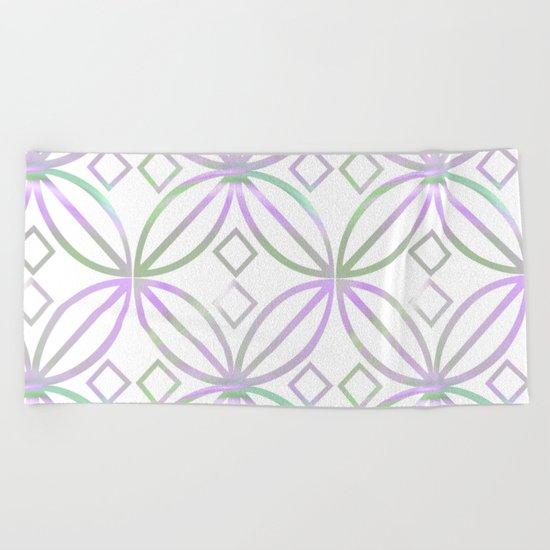 Floral Pattern - JUSTART © Beach Towel