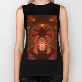 Fractal Mysterious, Warm Colors Are Shining Biker Tank
