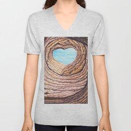 Le coeur de l'amour éternel Unisex V-Neck
