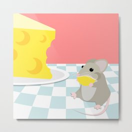 Dream Big Mouse and Cheese Metal Print