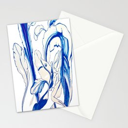 Plant in Blue Marker - Leaf of Life Miracle Leaf - Original Blue Stationery Cards