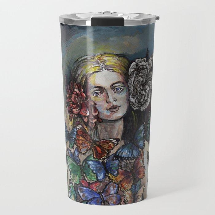 Butterfly Woman. Travel Mug